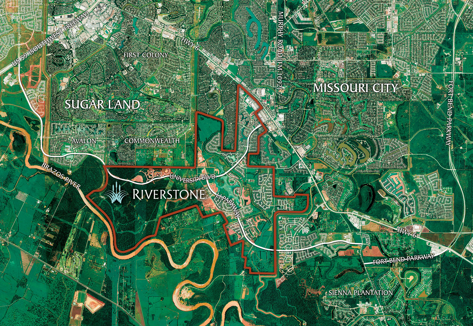Riverstone sugar land commercial real estate johnson for Stone creek development