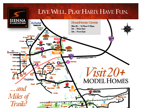Sienna Plantation Model Home Tour Map