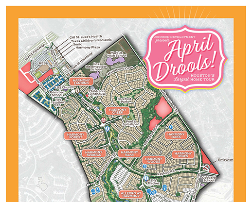 Harmony Model Home Tour Map