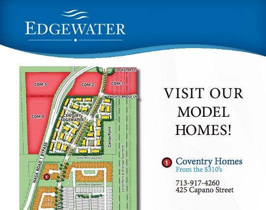 Edgewater Model Home Tour Map
