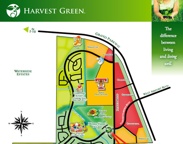 Harvest Green Model Home Tour Map