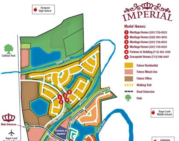 Imperial Model Home Tour Map
