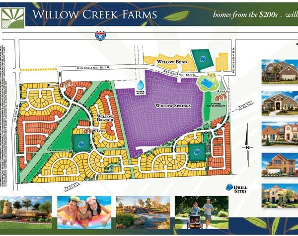 Willow Creek Farms Model Home Tour Map