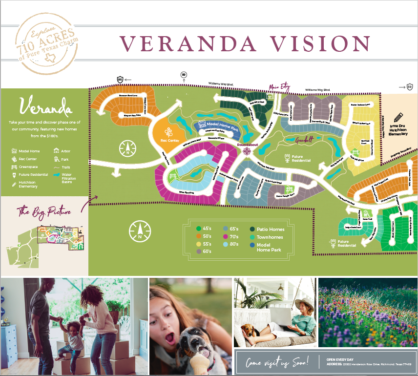 Veranda Model Home Tour Map