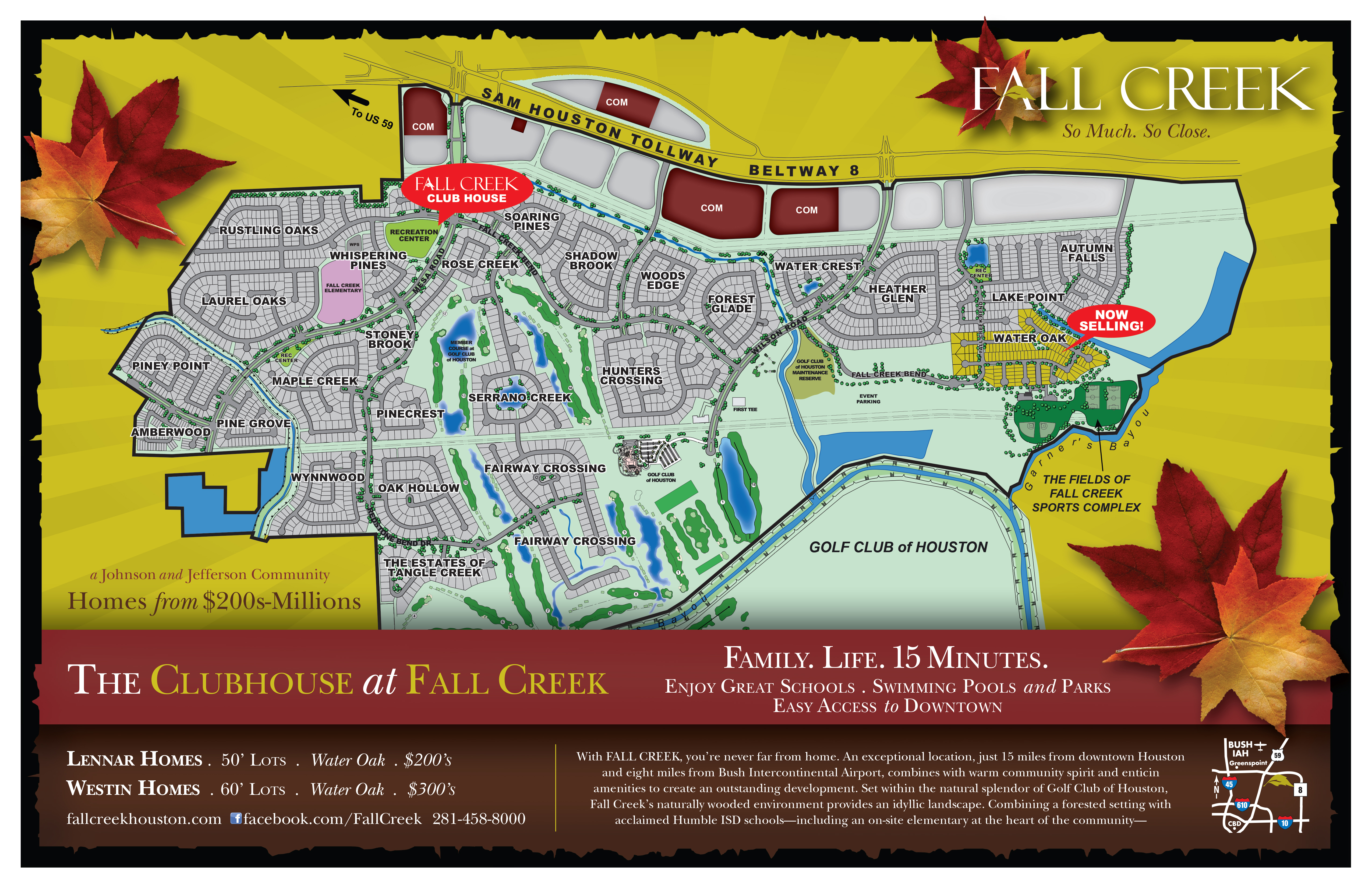 Fall Creek Model Home Tour Map
