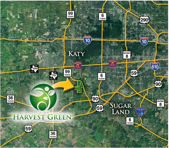Harvest Green Area Map